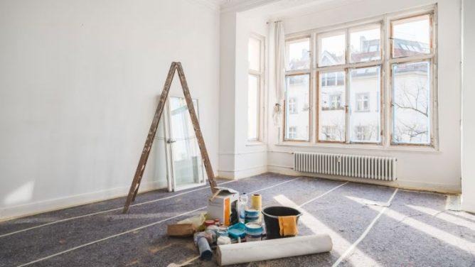 Sluttampen på en husrenovering i Stockholm.